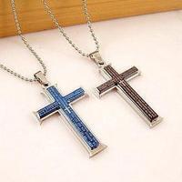 Wholesale and retail fashion titanium steel accessories bible cross pendant necklace exquisite gift  T062