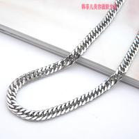 Wholesale and retail straightforward necklace fashion boy crest titanium steel man coarse chain exquisite gift T082