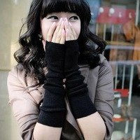 Min.Order is $10 (mix order) Fashion Autumn and winter women's knitted gloves   ultra long mitring semi-finger gloves arm sleeve