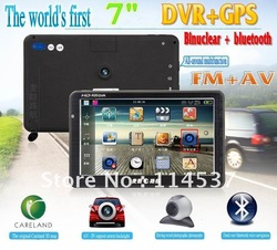 2012 world&#39;s first car navigation touch 7&quot;dual-core Bluetooth / FM/ AV-IN car GPS+DVR navigator128M 4G(China (Mainland))