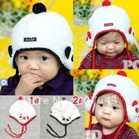 NEW 100% wool Wholesale retail children hats boys flight caps kids winter hats earflap Cap Beanie Panda hat Free Shipping