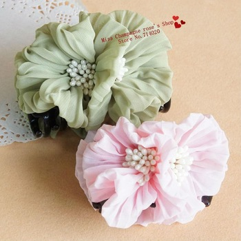 Double big flowers headbands/Elastic hair claws/Hair accessories/Headwear.Min order$15.Beautiful style.5 colors.Hot.TTF57M03
