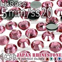 5mm SS20 Lt.Rose 1500pcs/bag,Nail Crystals Non Hotfix Rhinestones Resin Flat Back stones glitters for Glue DIY Nail Art BAG