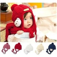 Free shipping NEW 100% wool Hot Fashion children hats boys cap kids winter hat Infant Knitted Hats,Kids Beanie,(Mix colors)