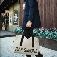 2015 raf simons male handbag canvas bag casual bag messenger bag lilun
