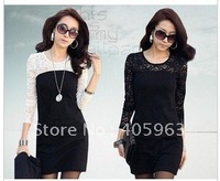 Free shipping fashion dress OL dress skirt women lace hot sale dress dropship
