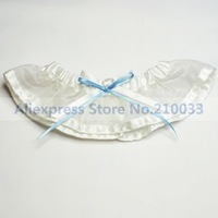 Organza Wedding Garters With Double Bowknots in Bayby Blue & Ivory Personalized Bridal Garters for Wedding Free Shipping Retails