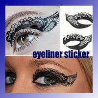 10 stlyes  choosen 10pairs/lot Clolorful  Eyeliner sticker Eye rock   Wholesale Retail
