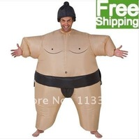 (free shipping CPAM)Halloween, Christmas used  New Sumo Wrestler Inflatable Fancy Dress Costume Suit