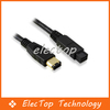 Free shipping 9 Pin to 6 Pin Firewire 800/400 IEEE 1394B Cable Wholesale 10pcs/lot(China (Mainland))