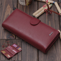 Free Shipping 2012 women's wallet female long design genuine leather wallet cowhide women's wallet female