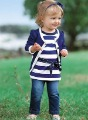 Free Shipping Baby Girls clothes Suits Baby 3pcs Sets(Coat+Stripe Long Sleeve T-shirt+Jeans)5 set/lot,Age for 1-6 years old baby
