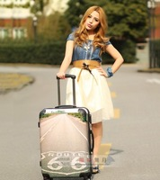 Fashion Abs trolley luggage pc luggage travel bag universal wheels 20 24 isatie