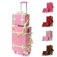 Fashion Vintage fashion sidepiece vintage box trolley luggage bag travel bag box picture box isatie