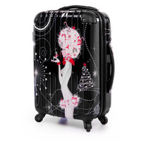 Fashion Trolley luggage travel bag luggage bags   trolley case  abs suitcase 20inch isatie