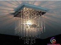 20cm Led Crystal Ceiling 1 Light Fixture Pin Lamp Lighting Prizm