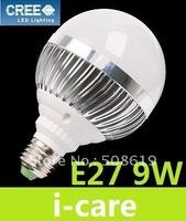 High Power 9W E27 Led Bulb Light Globe Lamp 9X1W 900 LM 180 Angle Warm White 3000K Led Spotlight 110-240V Energy Saving Lamps