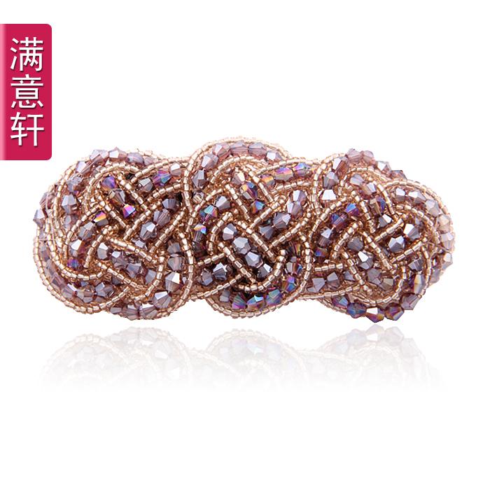 Hair maker hair accessory glass crystal clip hair pin hair accessory 8555(China (Mainland))