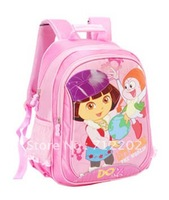 Free shipping Dora school bag backpack primary school students  dora care relief spinal  kids school bag satchel 002