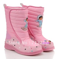 Free shipping  children boots female  child wintersnow boots cotton-padded shoes fashion snow  girl's baby  boots slip-resistant
