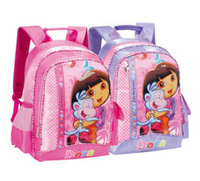 Free shipping Dora school bag backpack primary school students kide sport  satchel care relief spinal   bag 050