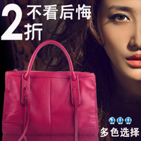 Vintage bag leather bag shoulder bag handbag genuine leather bag fashion tassel women's handbag
