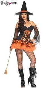 Within 7-8days shipped by EMS Free shipping Christmas Halloween costumes sexy witch dress cosplay party costumes LZ007(China (Mainland))