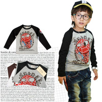 Free shipping wholesale new 4 pcs/lot  boys spider-man long-sleeves T-shirt kids clothes boys clothes children clothing