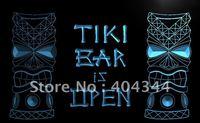 LB573- Tiki Bar is OPEN Mask Display NR Neon Light Sign  hang sign home decor shop crafts led sign