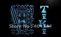 LB584- Surf Tiki Bar Mask Tree Decor Neon Light Sign  hang sign home decor shop crafts led sign