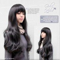 Cute Black Women Long Kanekalon Wavy Party Hair wig