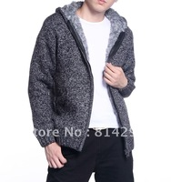 Han2 ban3 hooded cardigan sweater man thickening trend sweater sweater free shipping