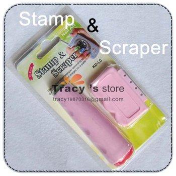 Free Shipping Nail Art Image Paint Stamp DIY Design Tool Set 2 Way Style Nail Polish Stamper & Scraper Wholesale +Retail Box