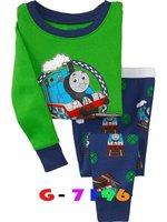 Thomas train  baby pajamas kids jumpsuits bodysuit kids sleepwear baby girl pyjamas 6sets/lot Free shipping