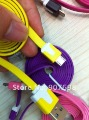 200pcs/lot,Noodle Flat Micro USB Data Sync Charger Charging Cable for Samsung HTC Sony Nokia LG Blackberry Motorola