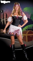 New Arrival polyester Halloween Costumes  Pirate Dress Retail  sm7018
