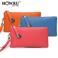 Howru 2012 candy female wallet long design fashion lockbutton clutch wallet fashion women's handbag