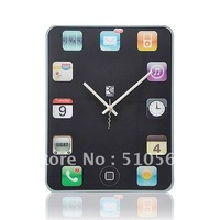 qt008 Hot 1pcs DIY creative tablet PC screen mute scanning wall clock /wall decorations living room /cool clock designs