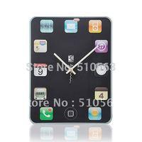 qt008 Hot 1pcs DIY creative tablet PC screen mute scanning wall clock /wall decorations living room /cool clock designs
