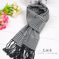 free shipping Scarf male autumn and winter small plaid fluid muffler scarf Men silk scarf 1287