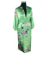 Free shipping Green  womens Robe Gown Sleepwear Bathrobe Nightwear  Size S M L XL XXL XXXL