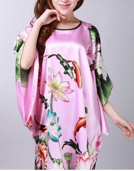 Розовый Женщиныs robe gown sleepwear Kaftan one Размер Стиль