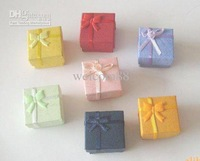EMS Free Shipping 240pcs/lot 5 x 5 x 3cm Jewelry Packaging Ring & Earring Gift Box BX1*