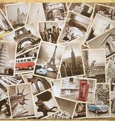 wholesale 10pcs Famous Building Vintage style poster memory postcard set / Greeting Cards/ gift cards/Christmas postcards/32 pcs(China (Mainland))