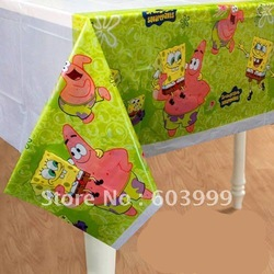 20 SPONGEBOB KIDS BIRTHDAY PARTY SUPPLIES Tablecloth table cloths Fast Delivery ,free shipping(China (Mainland))