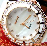 Free Shipping Gift aegean ceramic watchband gorgeous shell surface dream rhinestone ladies watch beautiful ceramic watch