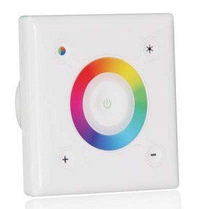 5pcs/Lot DHL free shiping  2012 Hot selling wall mounted Square touch interface RGB controller ,16 changing modes ,3CH.*3A