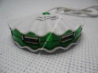 High Speed USB 1.1 4 Port Hub  Shell Light For PC Notebook