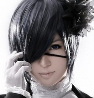 New Style Heat Resistant Short straight Ciel Phantomhive Cosplay Wig