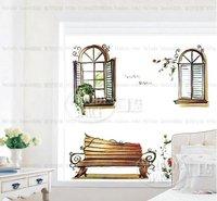 Window scene Home Decor Removable Wall Sticker/Decal/Decoration B40172